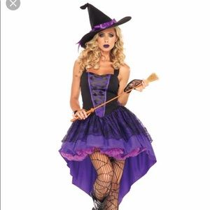 Halloween costume. Sexy witch.